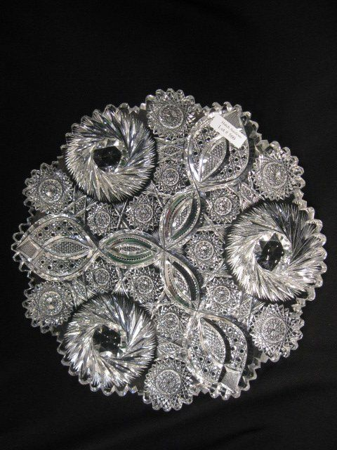 Lot: Cut Glass Tray,, Lot Number: 0500, Starting Bid: $100, Auctioneer: Richard D. Hatch & Associates, Auction: Huge Two Day Antique Auction Sept 20 & 21, Date: September 21st, 2013 BST