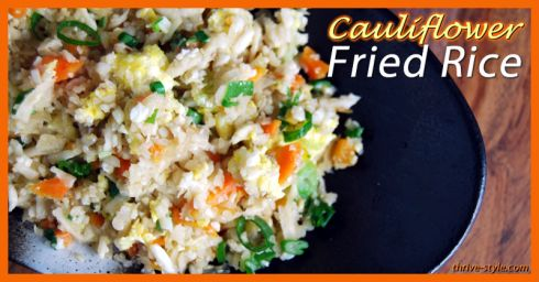 Cauliflower Fried Rice -