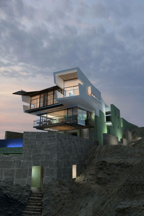Best Houses On Cliffs Images On Pinterest Architecture - Modern house on cliff