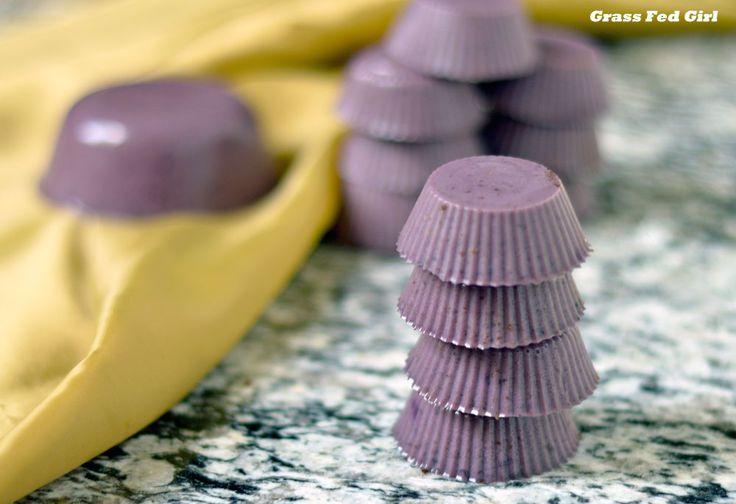 Blueberry Gelatin Gummie Bites (Paleo, Gaps, gluten and dairy free)     #paleo #recipe #food