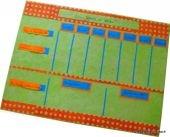 Tutoriel gratuit Tableau des taches en carton et papier népalais