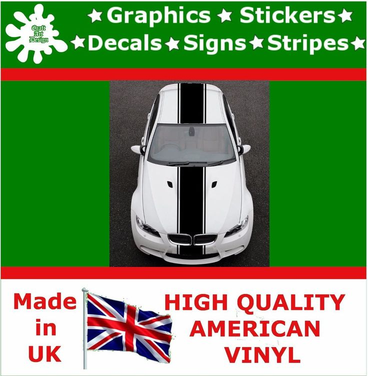 "18"" Racing Stripes Stickers Decal Art Car Auto Rally Graphics Sport HI_16_18"