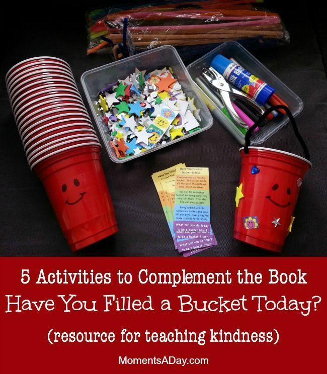 5 Activities to Complement the Book Have You Filled a Bucket Today.  Such a wonderful story to help students learn about empathy and compassion.  This site has some wonderful ways to make this story even more engaging and meaningful to your students.  Read more at:  http://www.momentsaday.com/5-activities-to-learn-about-kindness-bucket-filler-resources/