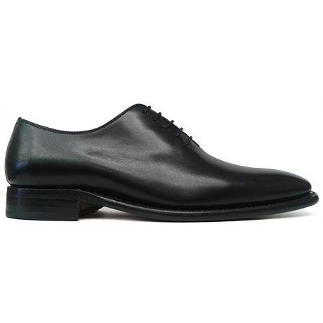 Zapato oxford enterizo wholecut negro Berwick 1707 vista lateral
