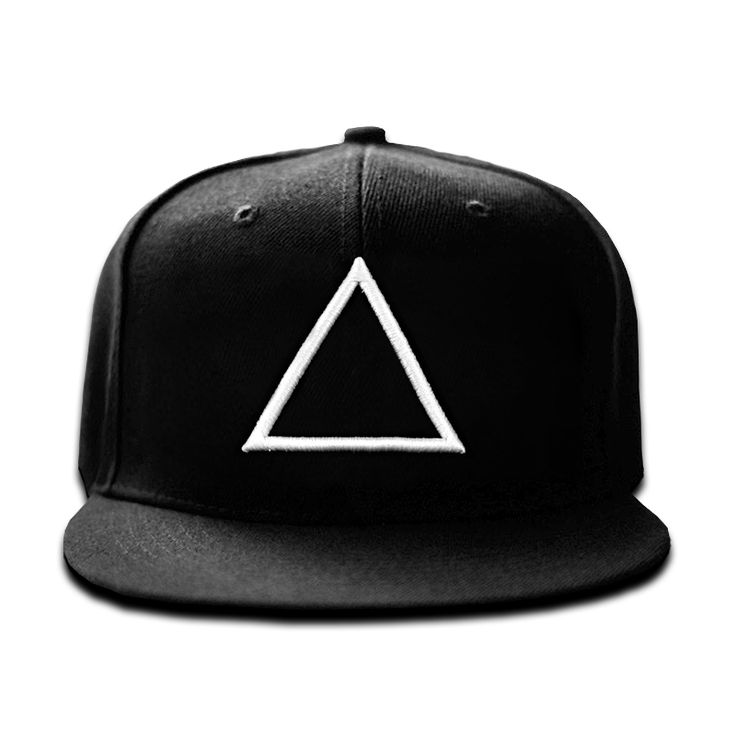 """Pyramid"" white-on-black snapback from LA's Under. $38.00"
