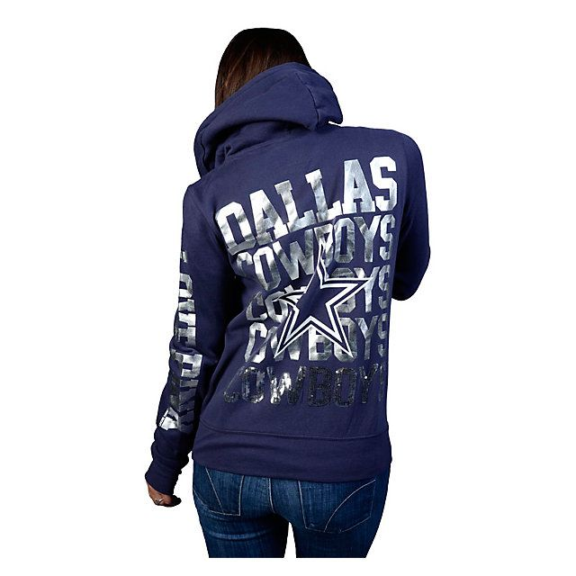 Dallas Cowboys PINK Full Zip Hoody