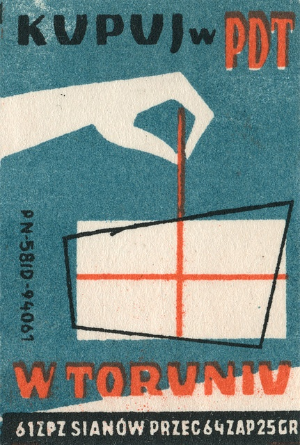 Polish Matchbox label.