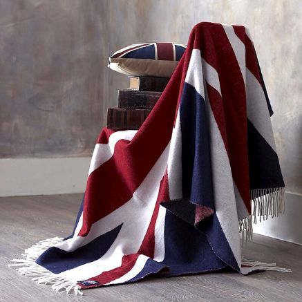 Merino wool Union Jack throw. What a lovely way to celebrate my country.
