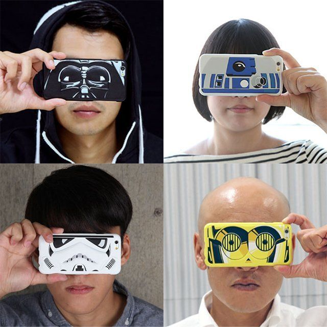 Sure, there are lots of Stars Wars phone covers around. But have you ever seen any like this? The Star Wars Transform iPhone 6 Eye Case Cover focus on the eyes of four iconic Star Wars characters: Darth Vader, Stormtrooper, C-3PO, or R2-D2. This means you can use the phone cover like a mask to act out favorite scenes from that time long ago in a galaxy far, far away. As with any well designed iPhone case, the Star Wars covers allow you to use your camera unimpeded, to adjust the volume…