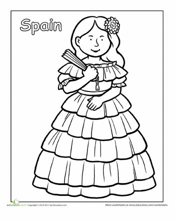 Multicultural Coloring: Spain | Education.com