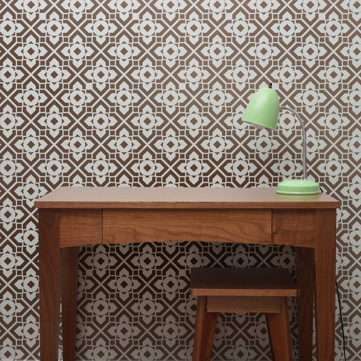DIAMOND LATTICE All over Wall Stencil • Reusable Stencils • DIY •Home Decor •Interiors • Feature Wall • Wallpaper alternative by StencilledUp on Etsy https://www.etsy.com/listing/227663314/diamond-lattice-all-over-wall-stencil