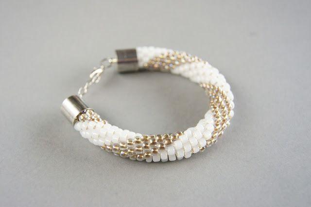 crochet rope bracelet beading toho 6/o