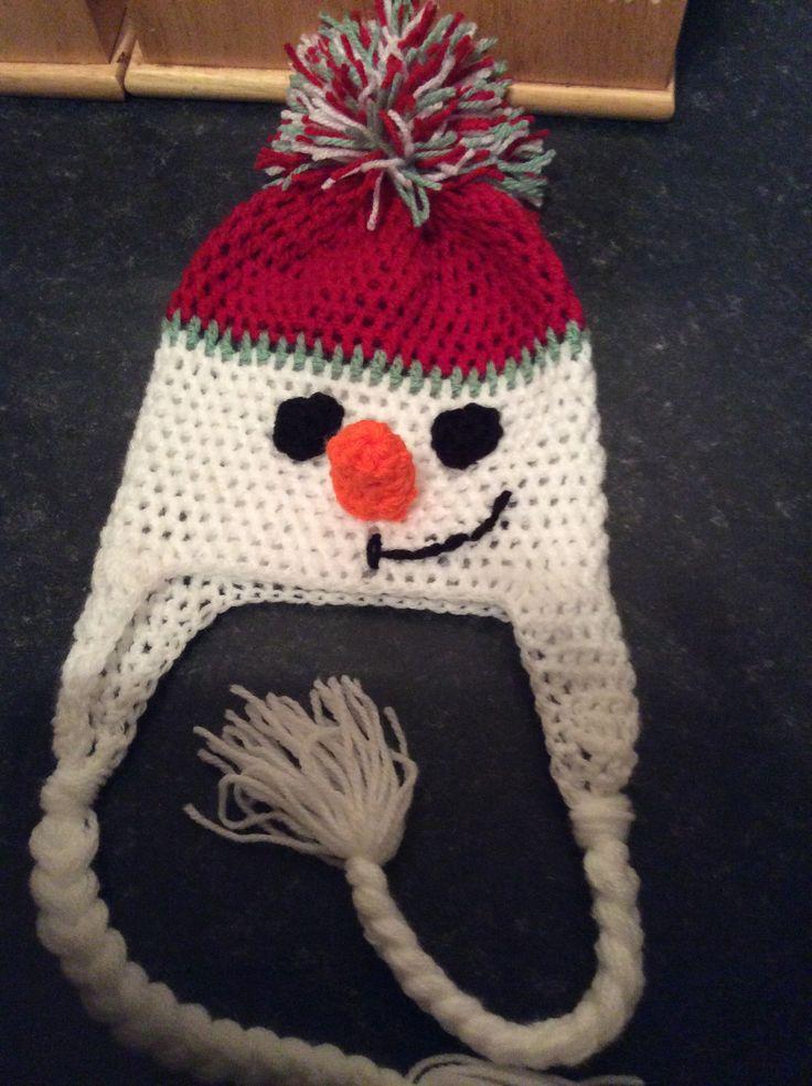 Crochet snowman hat... Mr Frosty