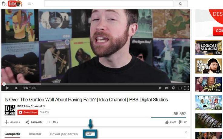 YouTube está experimentando una nueva característica para crear gifs animados a partir de fragmentos de vídeos y luego insertarlos en webs o compartirlos.