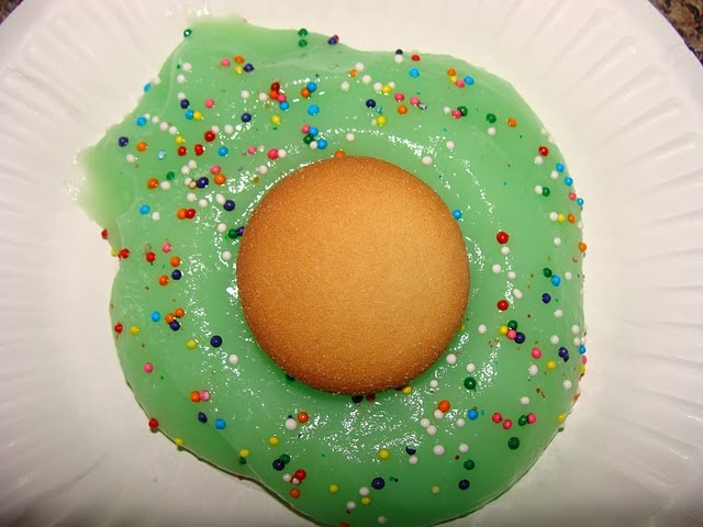 Green eggs - pudding and nilla wafer (Dr. Suess week)