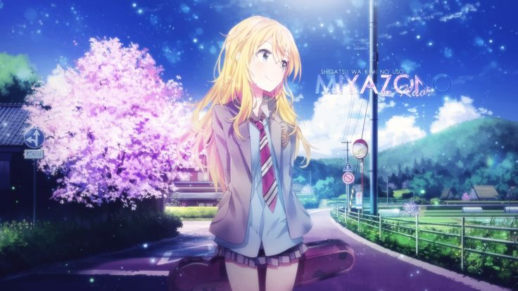 Anime Wallpaper 1920 x 1080 Your Lie In April, Kaori Miyazono