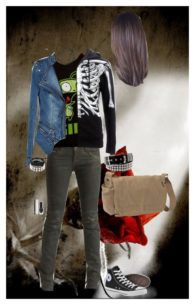 """""""Look 2-23"""" by candy-coated-doom ❤ liked on Polyvore featuring Rockstar Sushi, Converse, Iron Fist, Everest, Hot Topic, Bling Jewelry, NARS Cosmetics, emo and HIWIDIHS"""