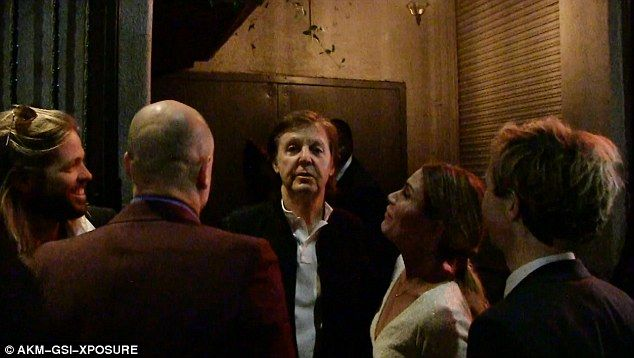 Let It Be? The extraordinary moment Sir Paul McCartney, wife Nancy Shevell, singer Beck an...