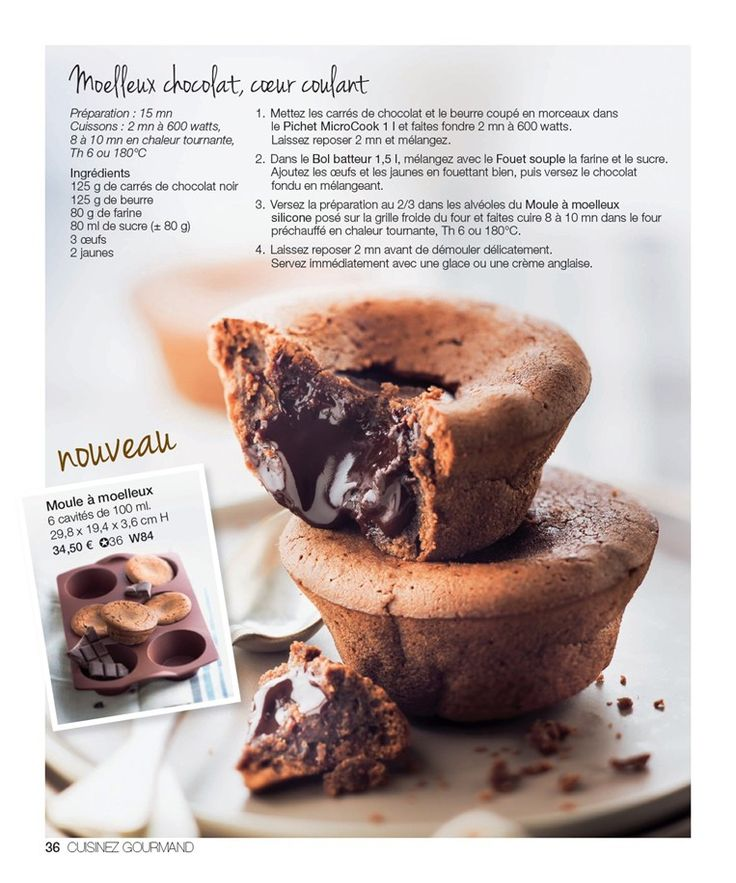 Tupperware - Moelleux chocolat coeur coulant                                                                                                                                                      Plus