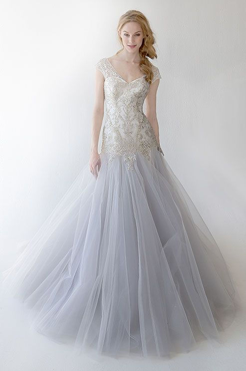 Such A Beautiful Light Gray Tulle Wedding Dress By Kelly Faetanini Spring 2017