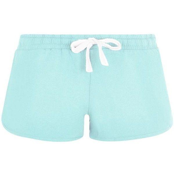 Light Blue Runner Shorts ($6.97) ❤ liked on Polyvore featuring shorts, bottoms, mini shorts, light blue shorts e cotton shorts