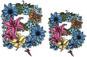Exotic Flowers Font - Letter B