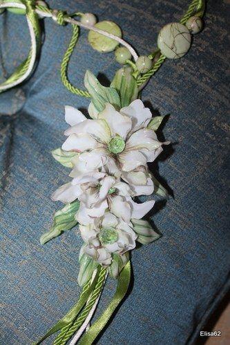 Sospeso trasparente floralandcz - Collana orchidee