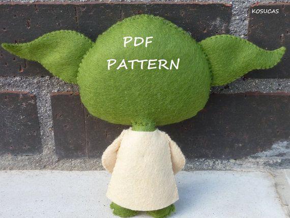 Patrón de PDF para hacer una muñeca de fieltro por Kosucas en Etsy