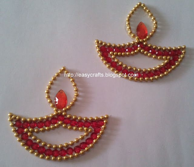 indian welcome lady with diya | EC Indian Handicrafts' (Customised kundan rangolis): Colourful kundan ...