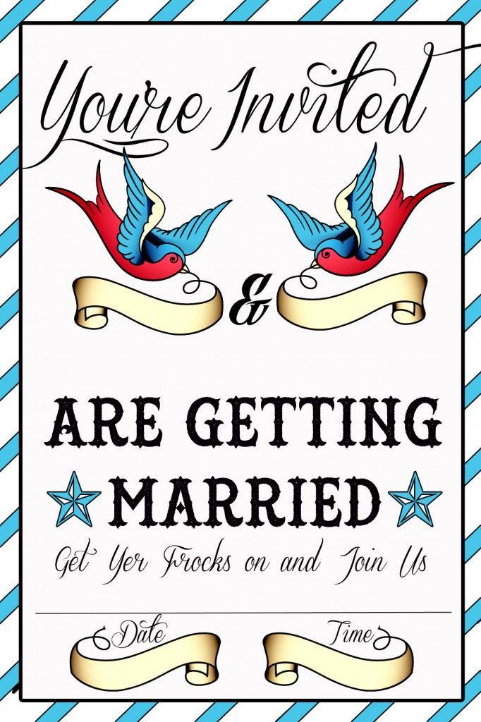 Tattoo Themed Wedding Inspiration - Weird and Wonderful Wedding World