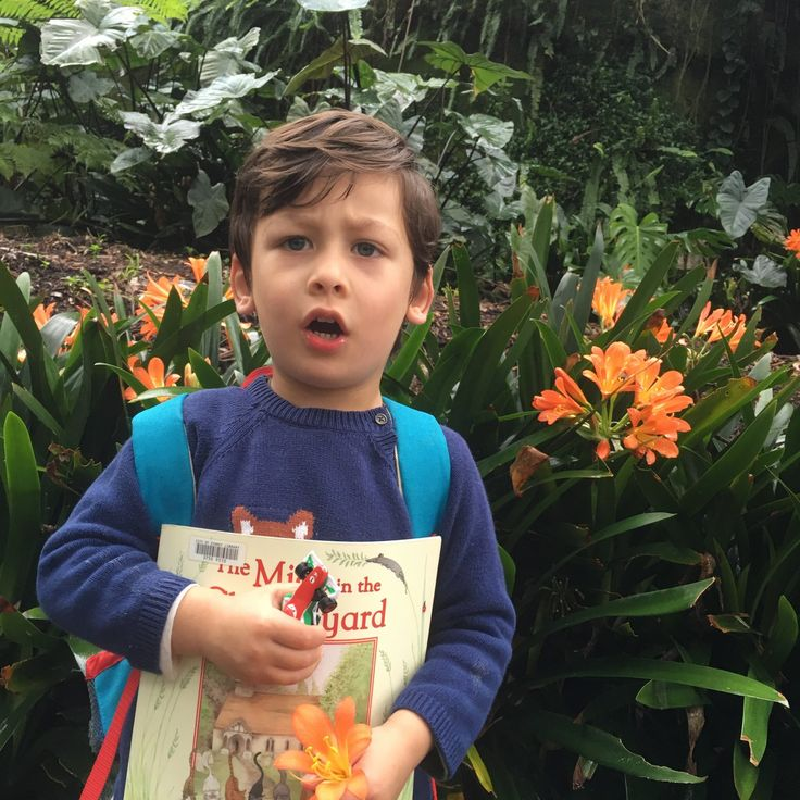 Technically Gaspard is in childcare as my little bab is only three. We like to share our finds at the library, drive the race car over tree trunks on the way to school and treasure the flower which the little charmer takes to his teacher.