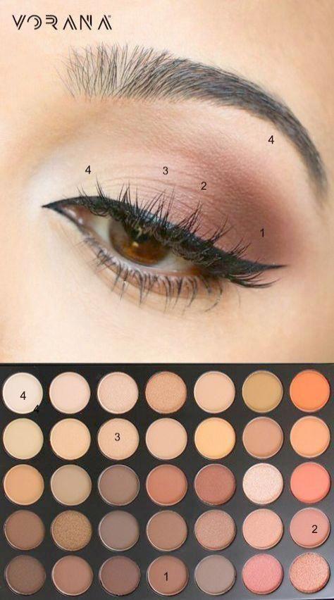 Incredible -> Simple Makeup sucht nach Schule Schritt für Schritt #cool #browne… #maquillaje #makeup