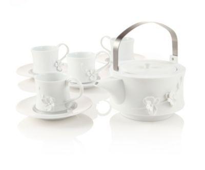 White Orchid Teapot Set