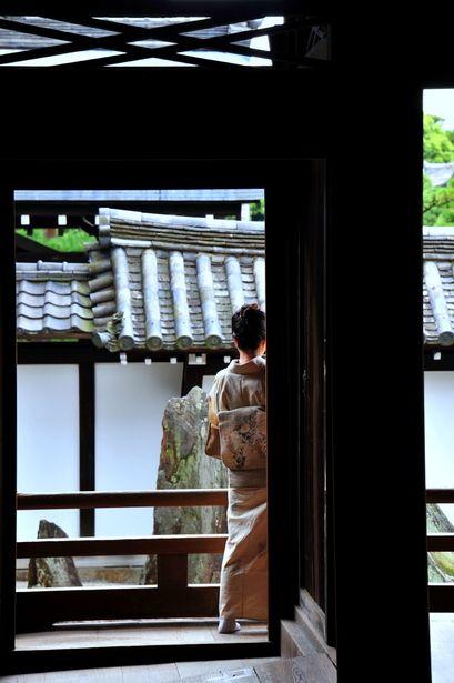 Japanese lady in kimono