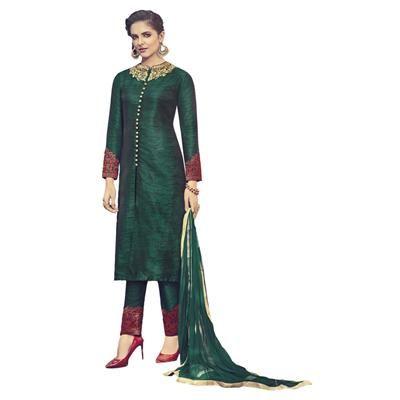 Heart & Soul Designer Wedding & Party Wear Fully Stitched Embroidery Designer Salwar Suits Dupatta