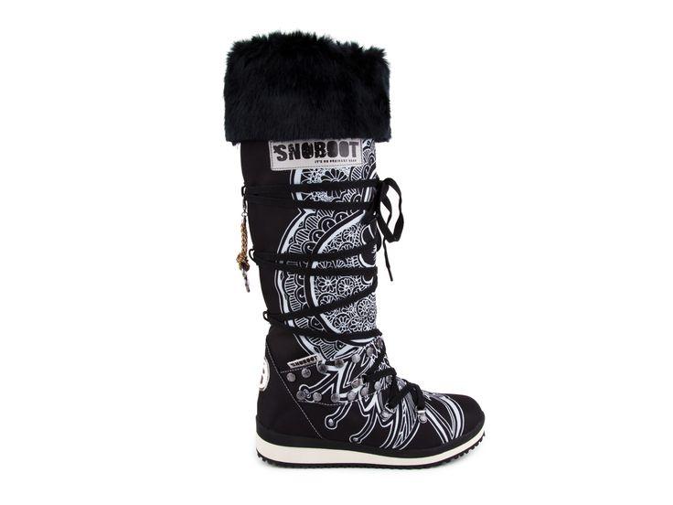 Snoboot - Luxusní módní sněhule Mutant High Tattoo Basic / černá