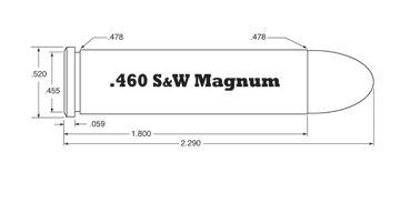 Metallic Load .460 Smith & Wesson Magnum / .460 S&W Magnum (Lyman Reloading Handbook 49th Edition)