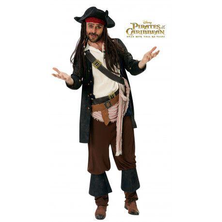 Disfraz de Jack Sparrow Premium Piratas del Caribe