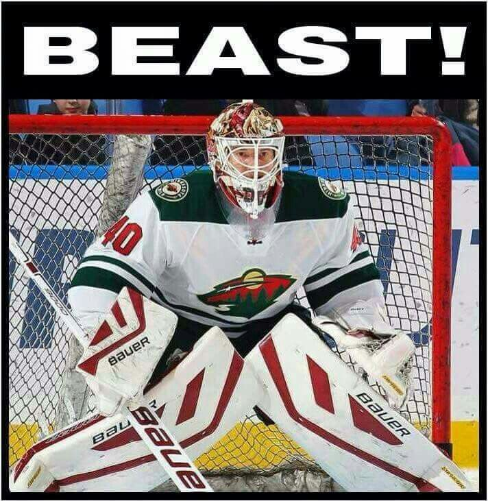 Minnesota Wild Devan Dubnyk... the beast!!!