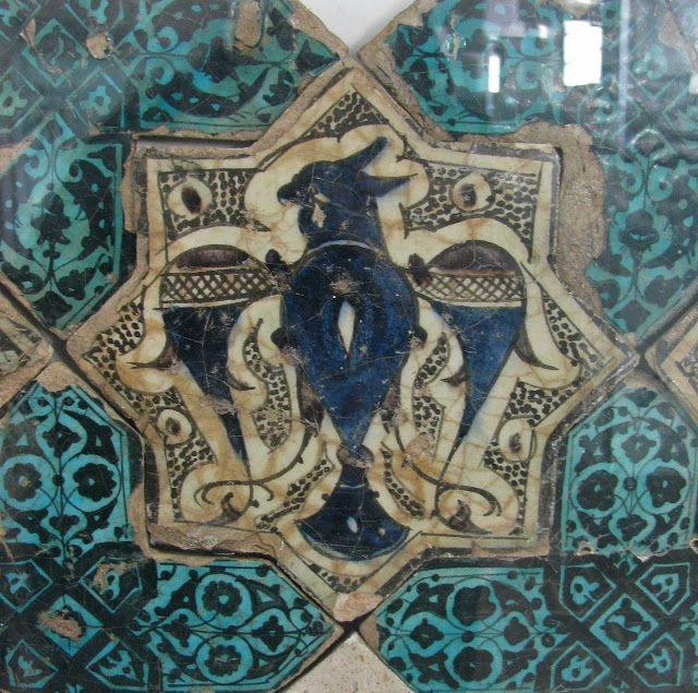 Tile mosaics from the Kubad Abad Palace, built 1226-1236. The palace was built for Kayqubad I, a Seljuk Sultan of Rûm.