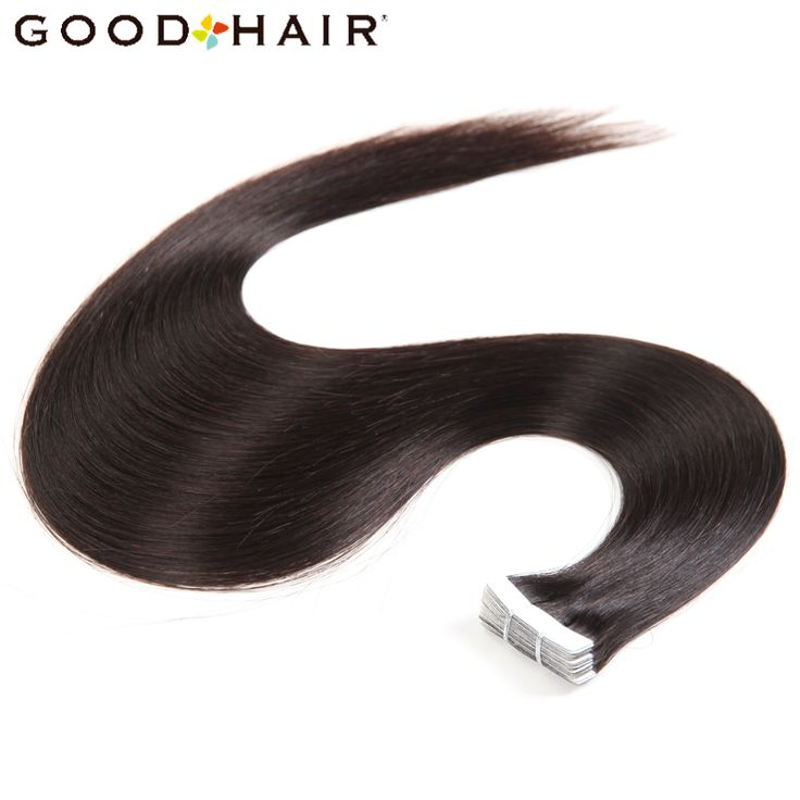 GOOD HAIR PRODUCTS Straight Brazilian Skin Weft 100% Human Hair Extensions Non Remy Tape In 20pcs/pack Double Sided Tape