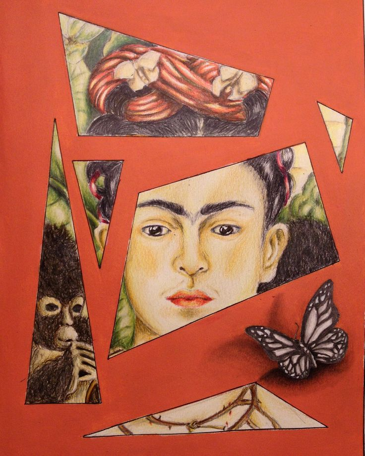 Elettra Tomei- progetto pannello decorativo della mostra di Frida Kahlo