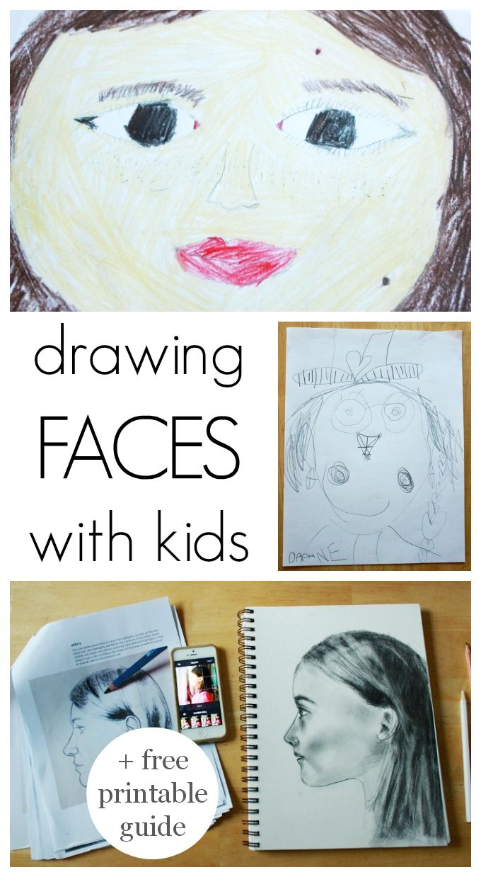 The human face is a subject that children return to again and again in their artwork. Here's a free printable that can help as kids get older and want to draw more realistically.