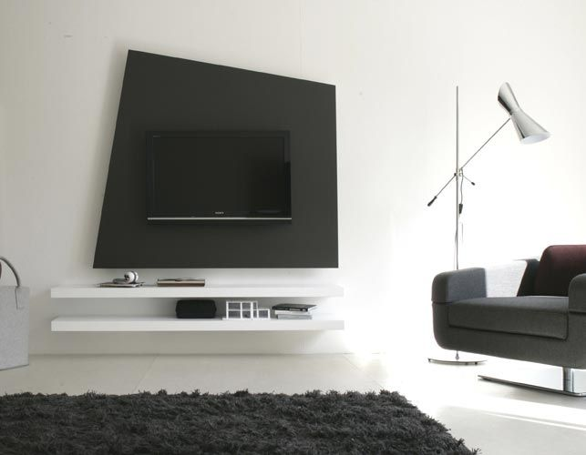Unique design wood tv stand wall system furniture by Wall tv console design