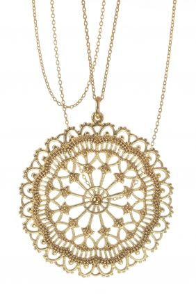 a dream of gold in perfection! #necklace #halskette #mandala #silber #vergoldet…