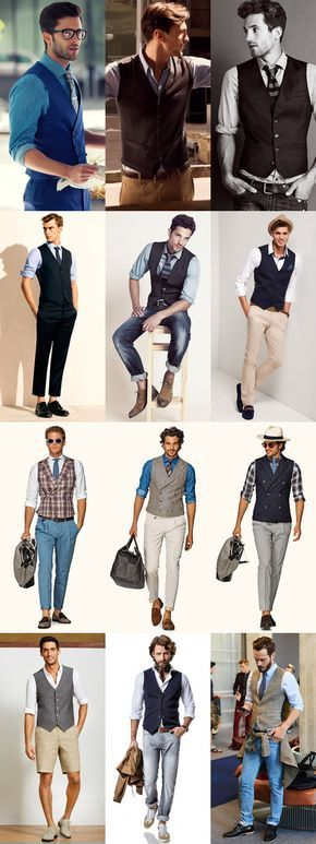 Men's Waistcoats - Using As A Jacket/Blazer Replacement In Summer - Outfit Inspiration Lookbook