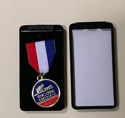 Republican National Convention Medallion 2016 Ribbon Pin Box Cleveland RNC Trump
