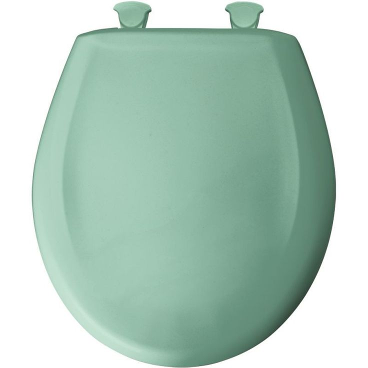 Bemis 200SLOWT Round Closed-Front Toilet Seat and Lid with Whisper-Close® Easy- Ming Green Accessory Toilet Seat Round