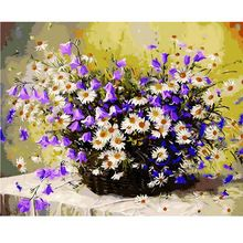 US $8.85 1PC Daisy Flowers DIY Oil Painting By Numbers Wall Pictures For Living Room Coloring By Numbers Canvas Art Home Decor 40x50cm. Aliexpress product