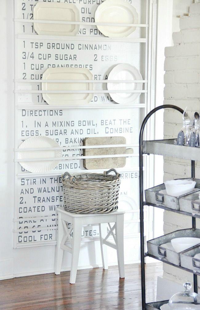 DIY Silver Leaf Balsa Wood Tag and Some Kitchen Organization Ideas